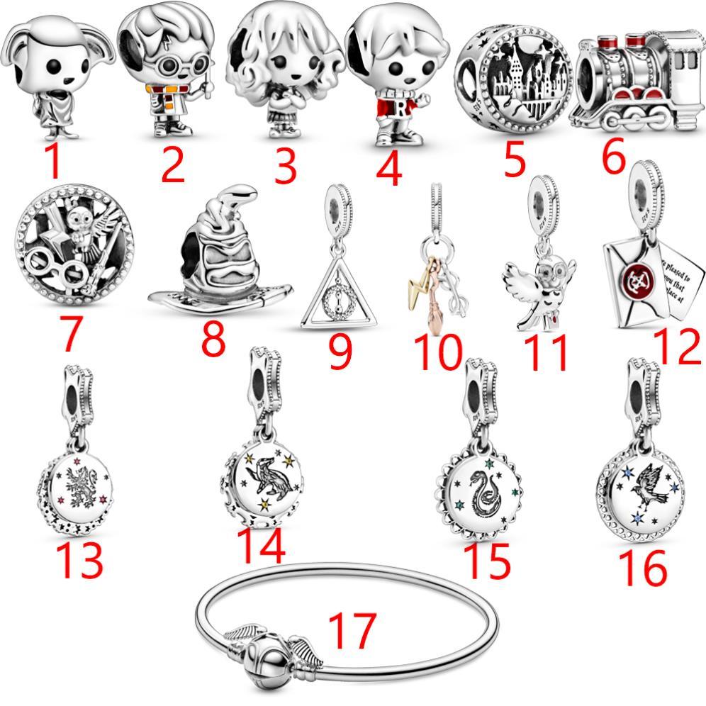 2020 Hot Genuine 925 Sterling Silver Harry Charm Beads fit Original Pandora Charm Bracelet Fine Silv