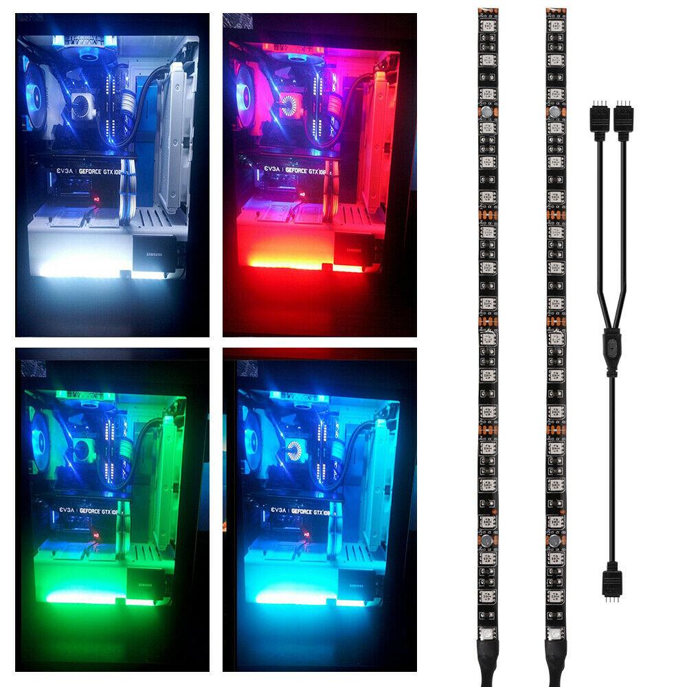 RGB Gaming 5050 LED Strip Light with 4 Pin RGB-Header 12V Software Control Lighting For PC Computer Mid Tower DIY Aura Sync M/B