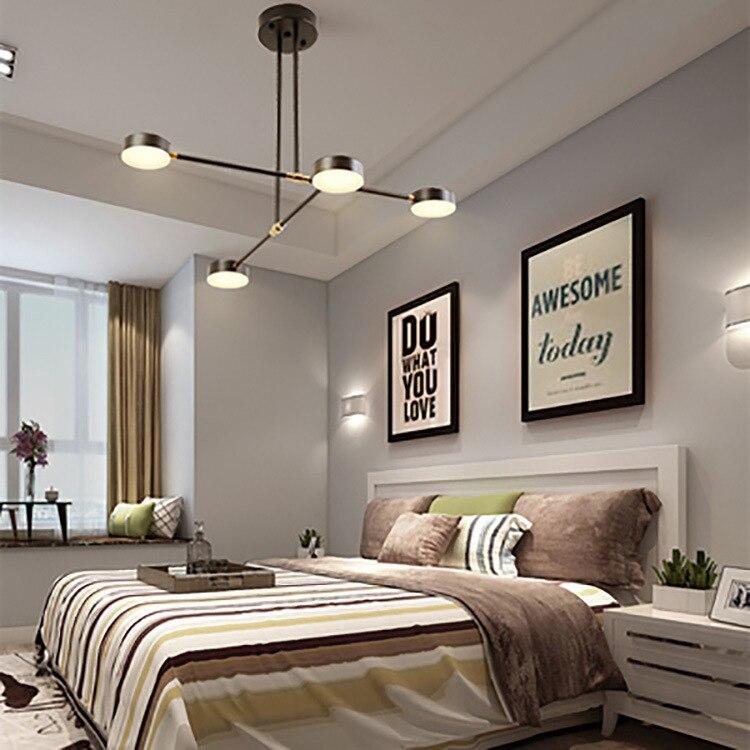 Lámpara de techo de cristal vintage, moderna, para decoración de sala de...