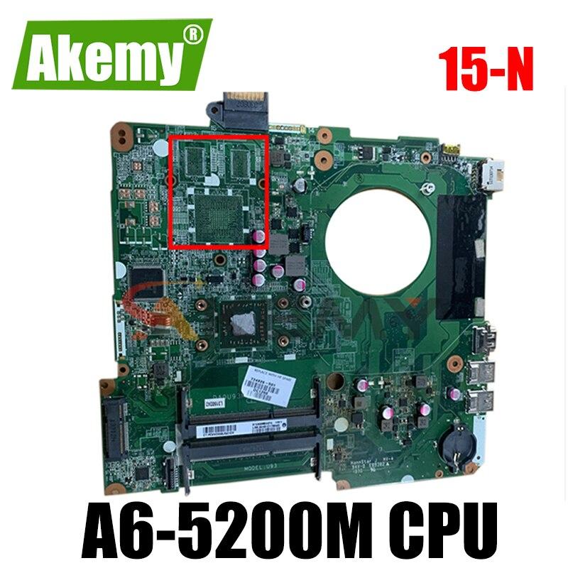 لوحة أم للكمبيوتر المحمول HP بافيليون 15-N عالية الجودة مع وحدة المعالجة المركزية A6-5200M 734827-501 734827-001 DA0U93MB6D0 100% اختبار سريع السفينة