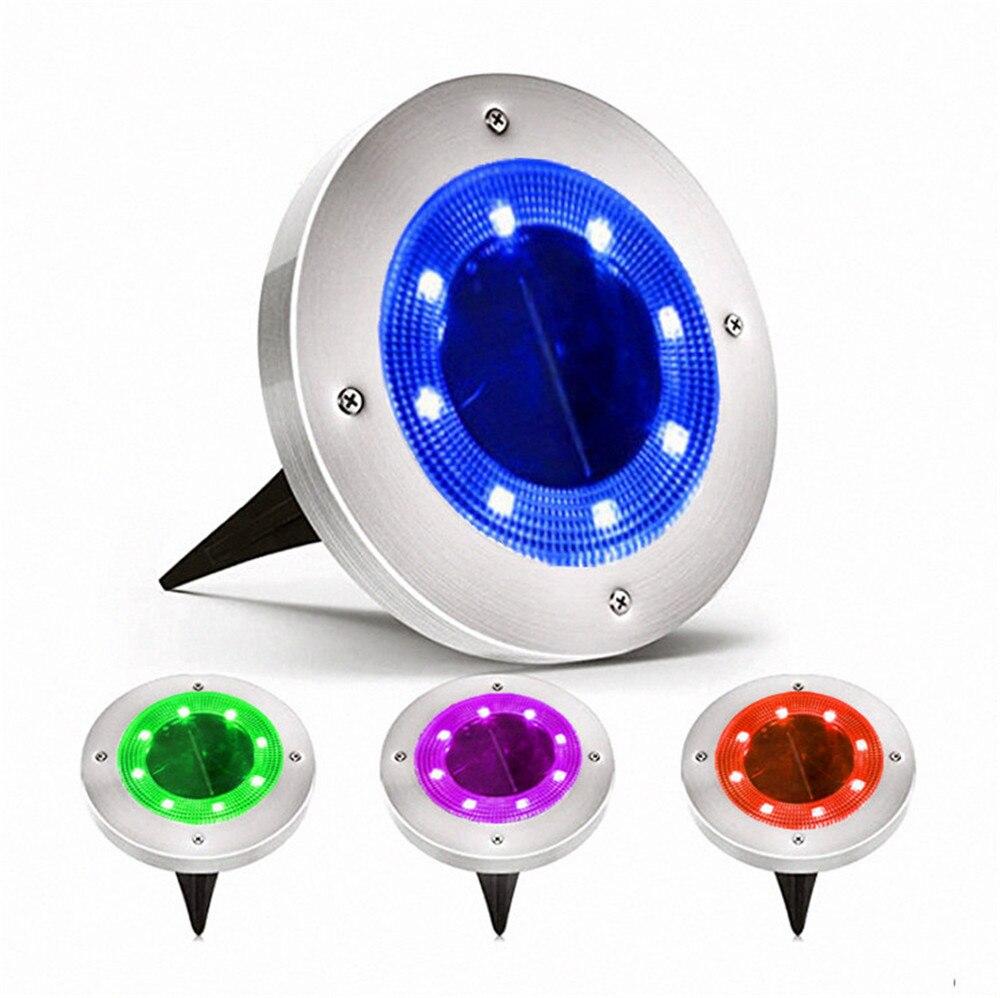 Уличный светодиодный светильник на солнечной батарее, постепенное изменение яркости, водонепроницаемый IP65 подземный светильник на солнеч...