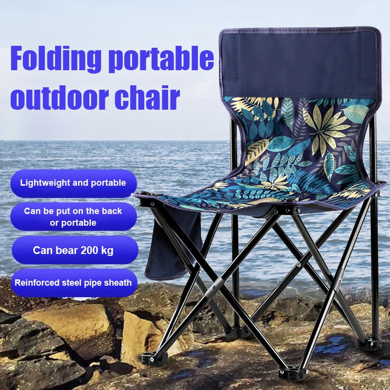 2020 silla plegable al aire libre taburete portátil tela Oxford ligera para pesca Camping X85