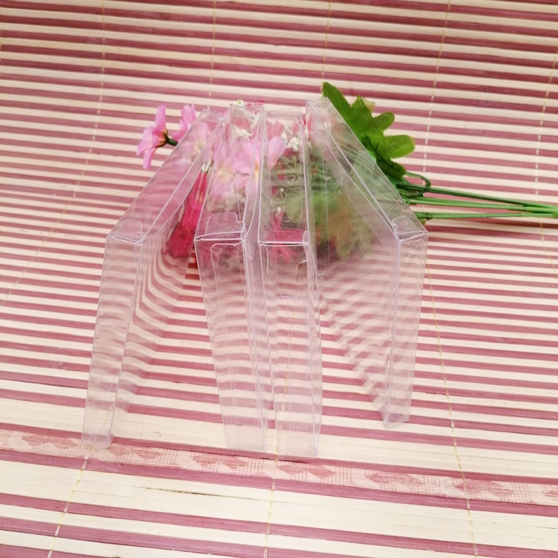50 шт ABB Прозрачная ПВХ пластиковая коробка подарочная упаковка коробка для ювелирных изделий Подарочная коробка Упаковка Дисплей Рождеств...