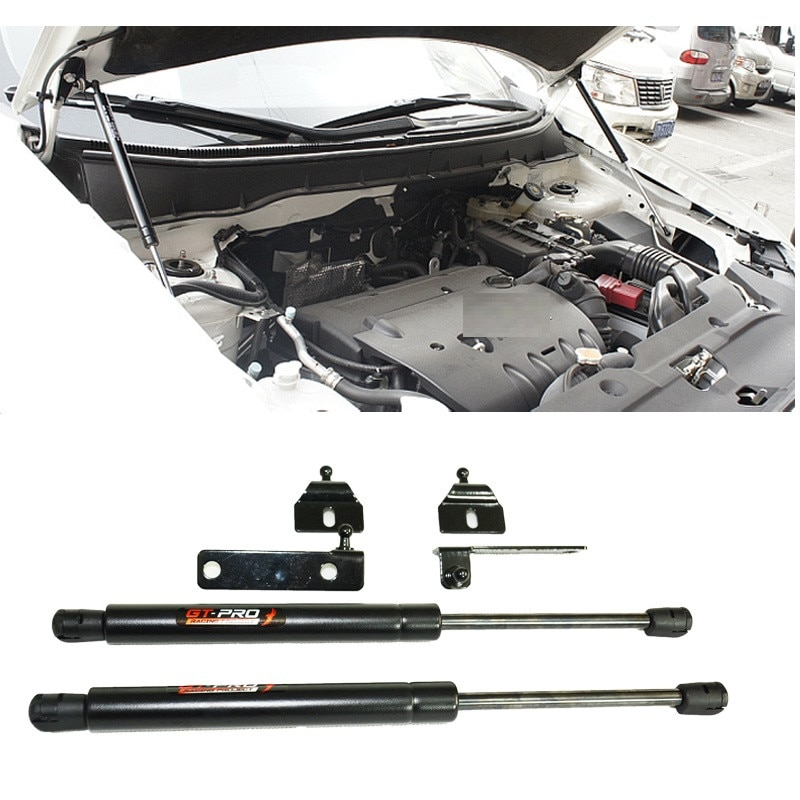 Accesorios para coches exteriores capó frontal capó soporte de resorte de Gas montacargas soporte de choque ajuste para Mistubishi triton L200 2015-18car