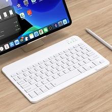 Clavier sans fil Rechargeable Mini clavier dordinateur bluetooth pour iPad PC tablette téléphone + espagnol russe autocollant arabe