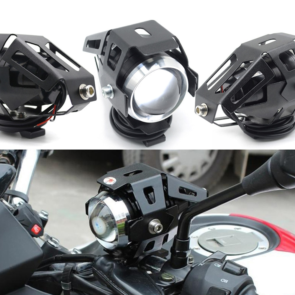 Motorcycle LED Headlights U5 Led Spotlight moto light Fog Spotlights 12V For Honda forza 300 XADV 750 X-11 x11 cb 190r 400 1000r