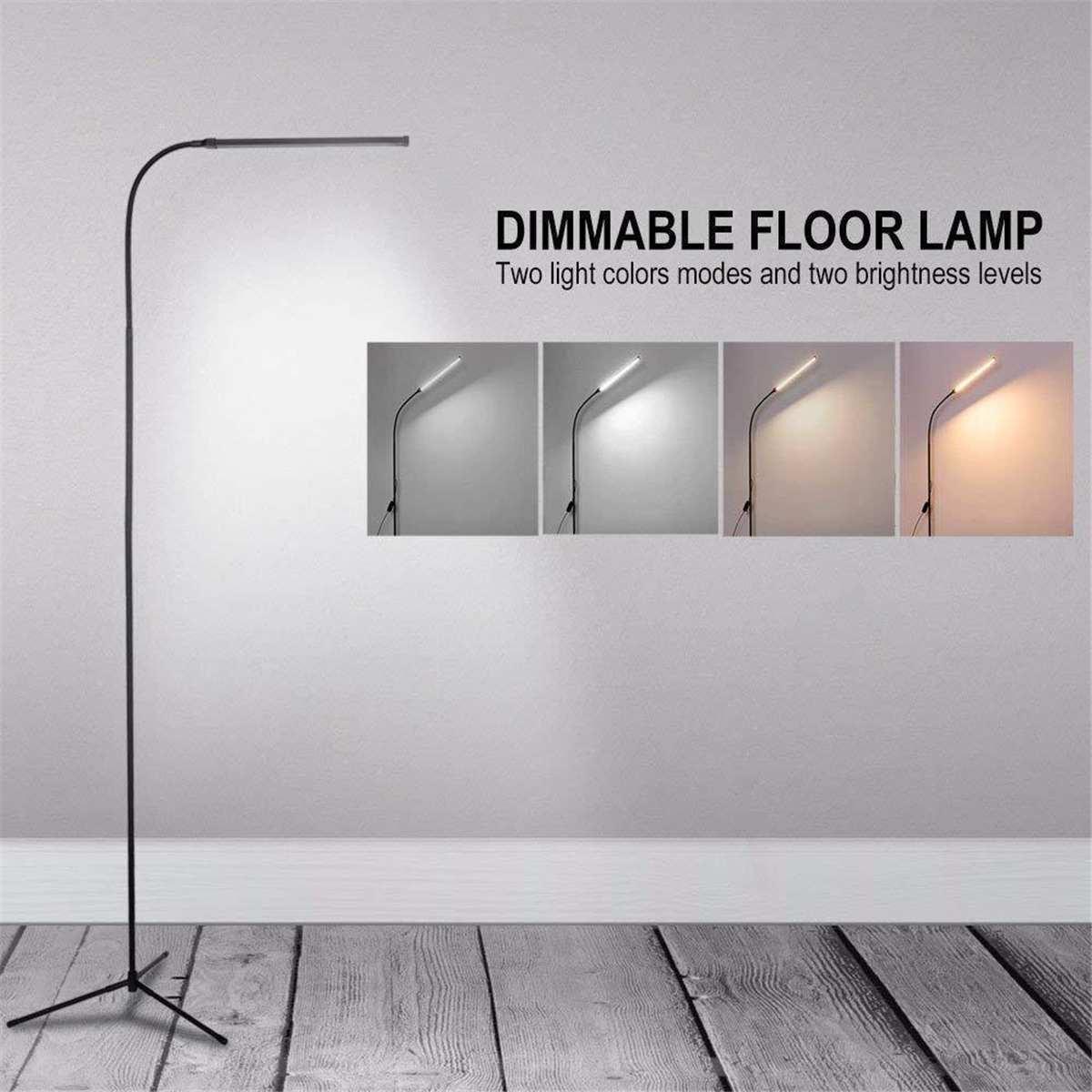 Moderne tactile LED lampadaire debout lecture pour salon chambre Dimmable lampe sur pied lampe de table lampadaires noir/blanc