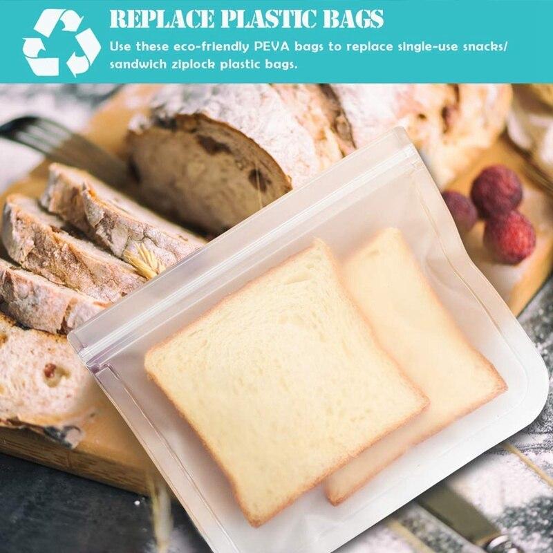 12 pièces silicone sac de stockage des aliments conservation réfrigérateur congélation alimentaire stockage réutilisable pot sacs frais produit bouteille Ziplock sac