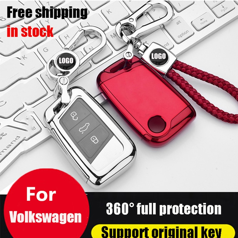 ZOBIG soft tpu car smart Key Case Fob cover for Volkswagen VW Passat B8