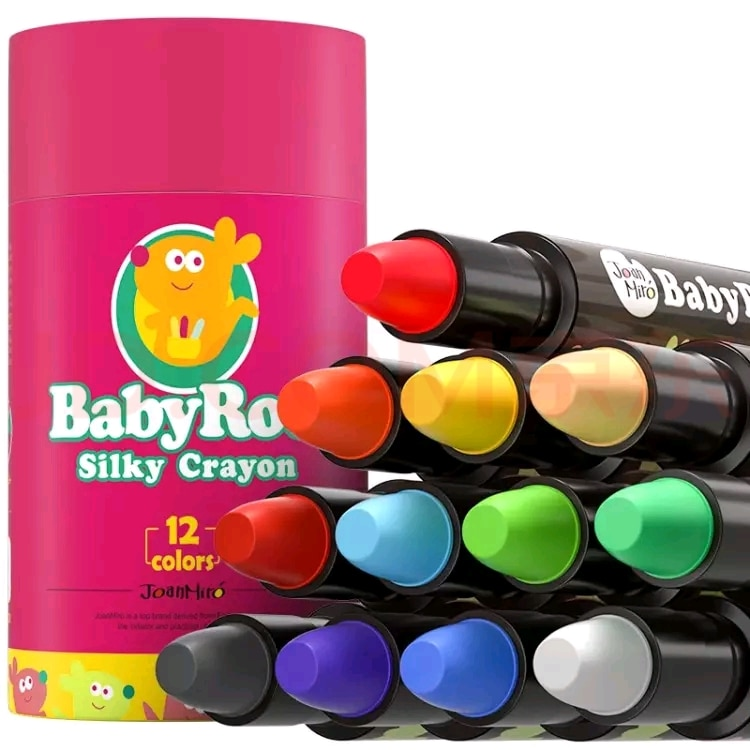 Non-toxic Kid Painting Crayon Children Safety Color Crayon Baby 3D Finger Art Supplies Kindergarten School Stationery 36pcs