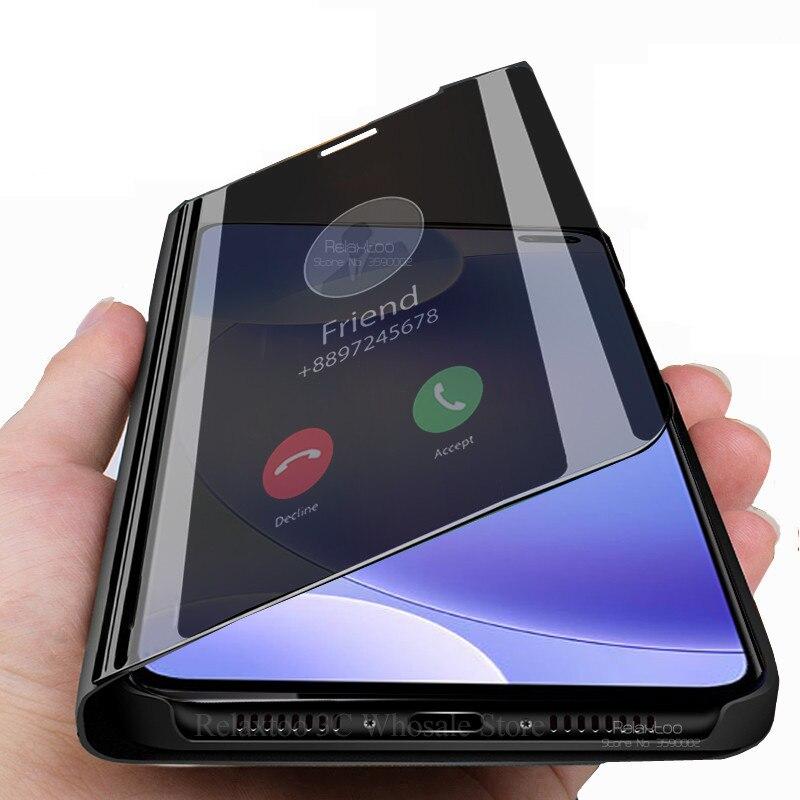 Funda de Vista espejo Smart para xiaomi redmi k30 Stand Flip cubierta de libro del teléfono en xiomi redmi k30 k 30 30 k redmi k30 funda coque