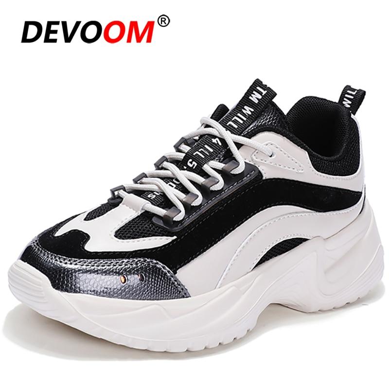 2020 Chunky Sneakers Women Platform 5cm High Casual Flat Shoes Women Vulcanize Ladies Shoes Designer Dad Fashion Womens Shoes 40