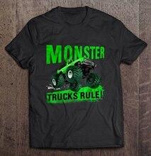 Uomini Divertente T Shirt maglietta di Modo Monster Truck Regola Version2 Delle Donne T-Shirt