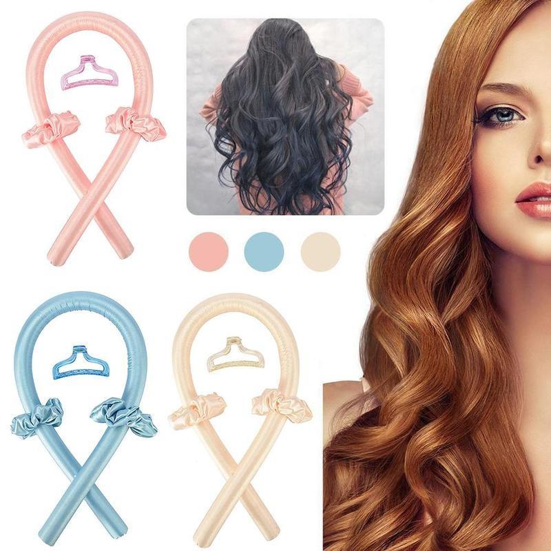 Heatless Curling Rod Silk Ribbon Lazy Curler Hair Rollers Sleeping Soft Wave Formers No Heat Curls R