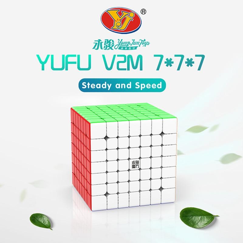 YJ Yufu V2M 7x7x7 cubos magnéticos de velocidad rompecabezas cubo profesional 7x7 imanes pegatinas juguetes educativos para regalo