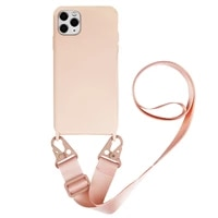silicone hanging necklace phone case for samsung galaxy s10 s20 plus ultra crossbody lanyard strap case for iphone 11 12 pro max