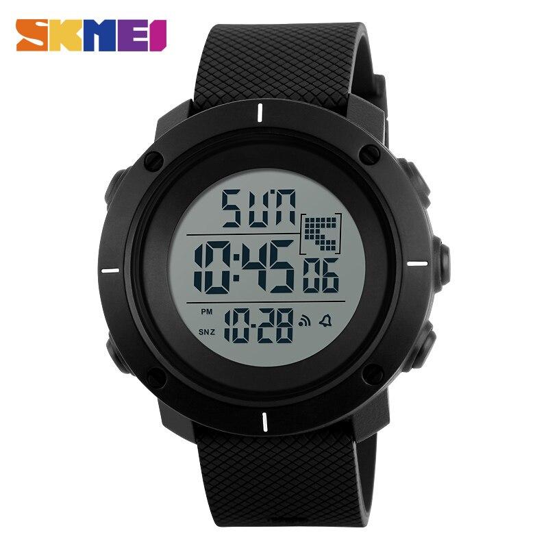 Reloj de pulsera SKMEI 1213 con LED Digital para deportes al aire libre, cronógrafo multifunción para hombre, reloj despertador resistente al agua de 5Bar
