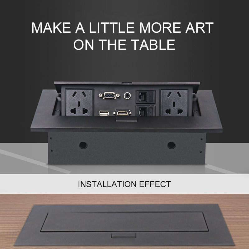 Enchufe de escritorio Multimedia K214 enchufe de mesa de interfaz múltiple estándar para diseño emergente HDMI HD Socket