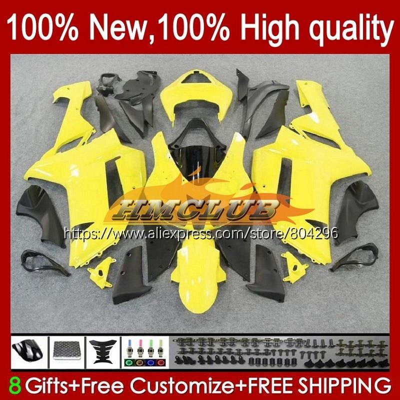 طقم الجسم ل كاوازاكي نينجا 600CC ZX 6R ZX-636 ZX6R ضوء الأصفر 07 08 76No.7 ZX-6R ZX600 ZX636 ZX 636 6 R 2007 2008 Fairings