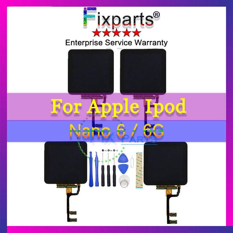 Pantalla LCD de alta calidad para iPod Nano 6 6G LCD + pantalla táctil LCD digitalizador reemplazo de montaje para Ipod nano 6 6th herramientas gratis