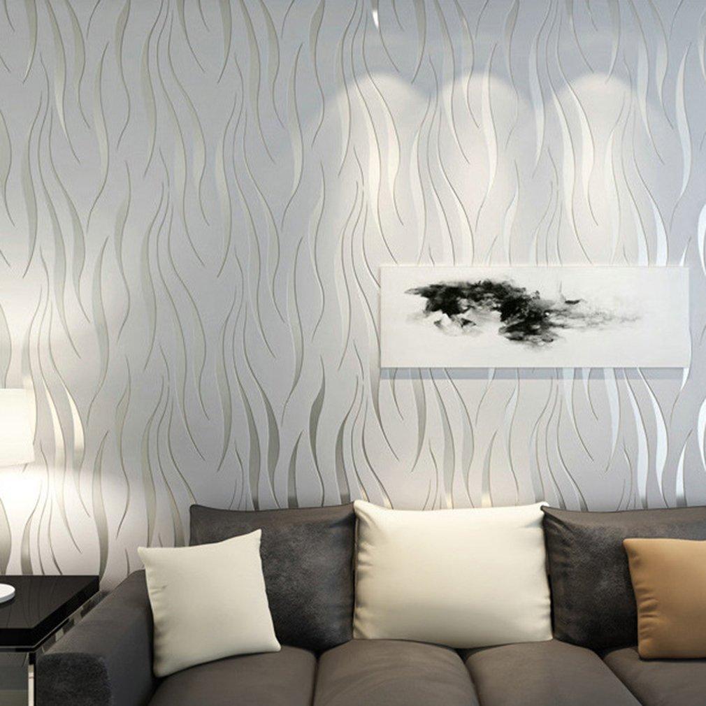 Póster de papel para pared ondulado elegante de 10M de tela no tejida para pared para pegatina decorativa de pared decoración para el hogar y la Oficina Envío Directo