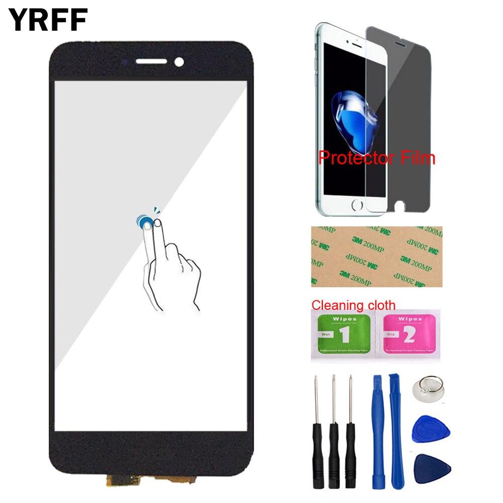 YRFF 5,2 TouchGlass frente para HuaWei P8 Lite 2017 pantalla táctil digitalizador de vidrio de Panel herramientas gratis Protector de película adhesivo