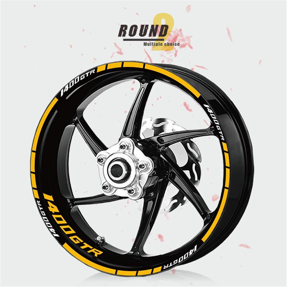 Etiqueta engomada de la rueda de la etiqueta engomada reflexiva creativa de la correa de la rueda impermeable para KAWASAKI ZZR1400 1400