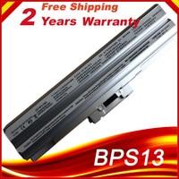 11.1V 5200mAh Laptop Battery VGP-BPS13 For Sony VGP-BPS13/S BPS13AS BPS13B/S BPS13A/S VGN-CS28 BPS13 VGN-CS Silver