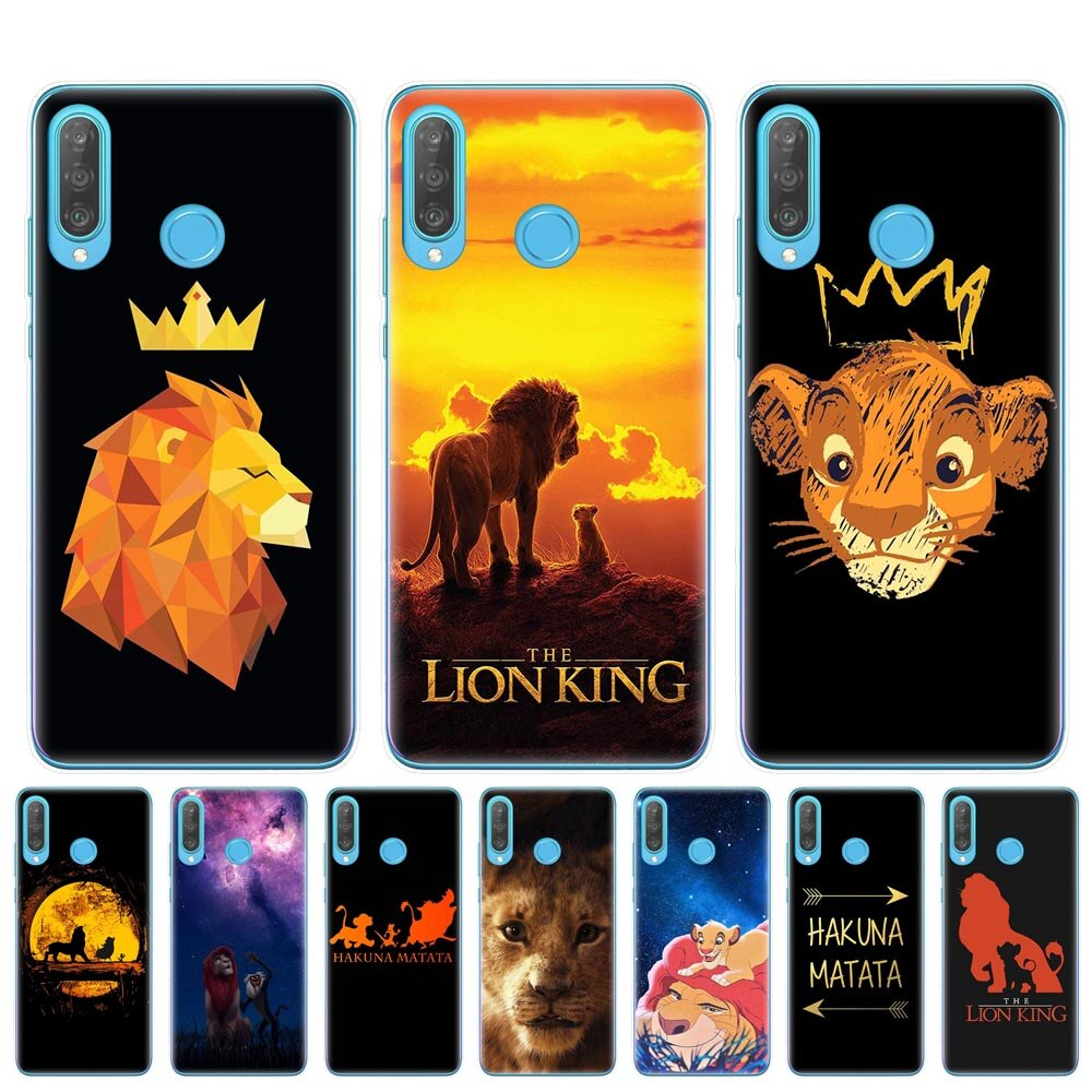 For Huawei P30 P20 Lite Pro P10 P9 P8 Lite 2017 Hakuna Matata Lion King Clear Silicone Soft TPU Phone Case Cover Capa Fundas Bag