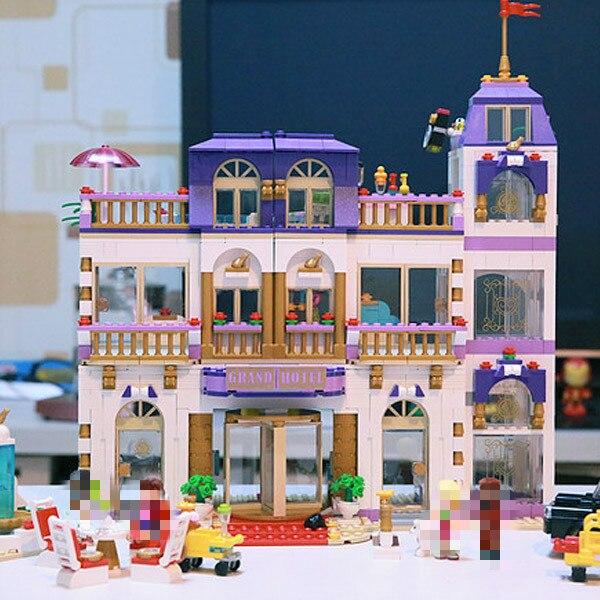 Bela 10547 Friends Heartlake Grand Hotel Andrea/Olivia/stephine bloques de construcción compatibles con Bela Friends 41101