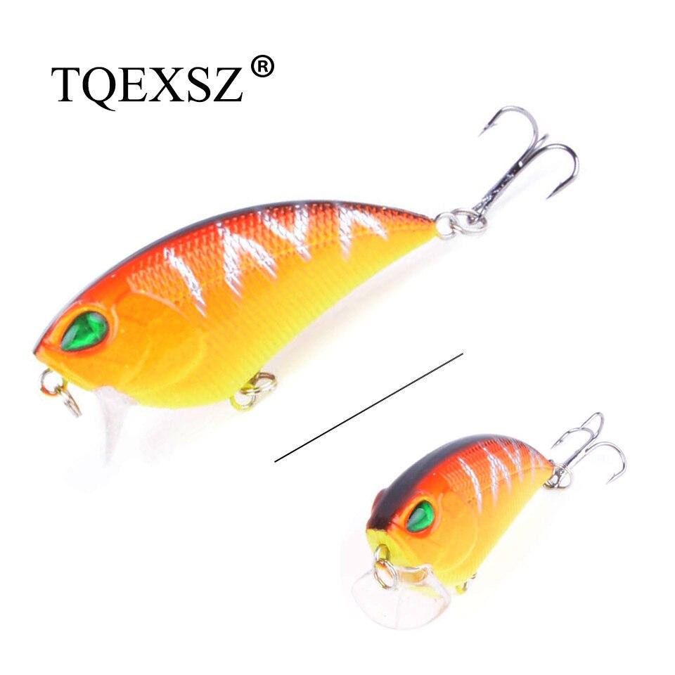 1PCS Small Crank Hard Bait 55mm 6.5g Floating Crankbaits Topwater Wobbler Rattling Pesca Fishing Lure  top water VIB lure 3D Eye