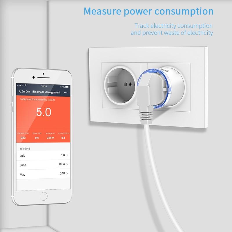 Gosund EU Standard Smart Plug 15A WiFi Mini Smart Plug Socket Smart Life TUYA APP Remote Control Works With Alexa Google Home