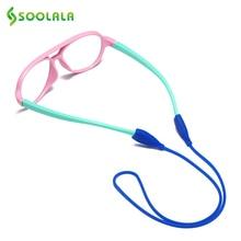 SOOLALA 6 шт./лот анти-скольжения очки ремешок шнур силиконовые спортивные шнур для очков Солнцезащитные очки для женщин эластичные Нескользящие гирлянды СВЕТОДИОДНЫЕ веревки