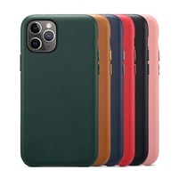 luxury original genuine leather case on for iphone 12 11 pro max mini for iphone x xr xs protection shockproof cover case shell