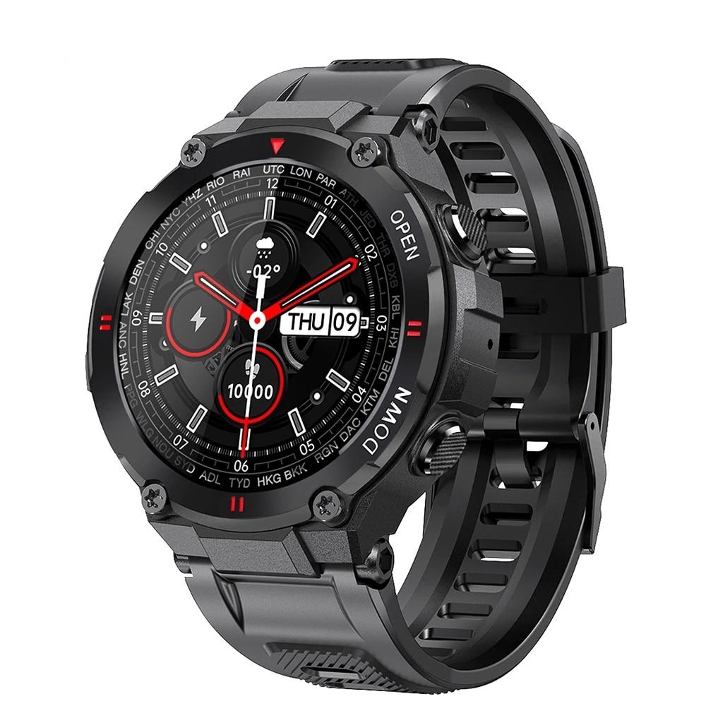 2021 جديد K22 ساعة ذكية الرجال الرياضة اللياقة البدنية بلوتوث دعوة متعددة الوظائف تحكم بالموسيقى ساعة تنبيه تذكير Smartwatch للهاتف