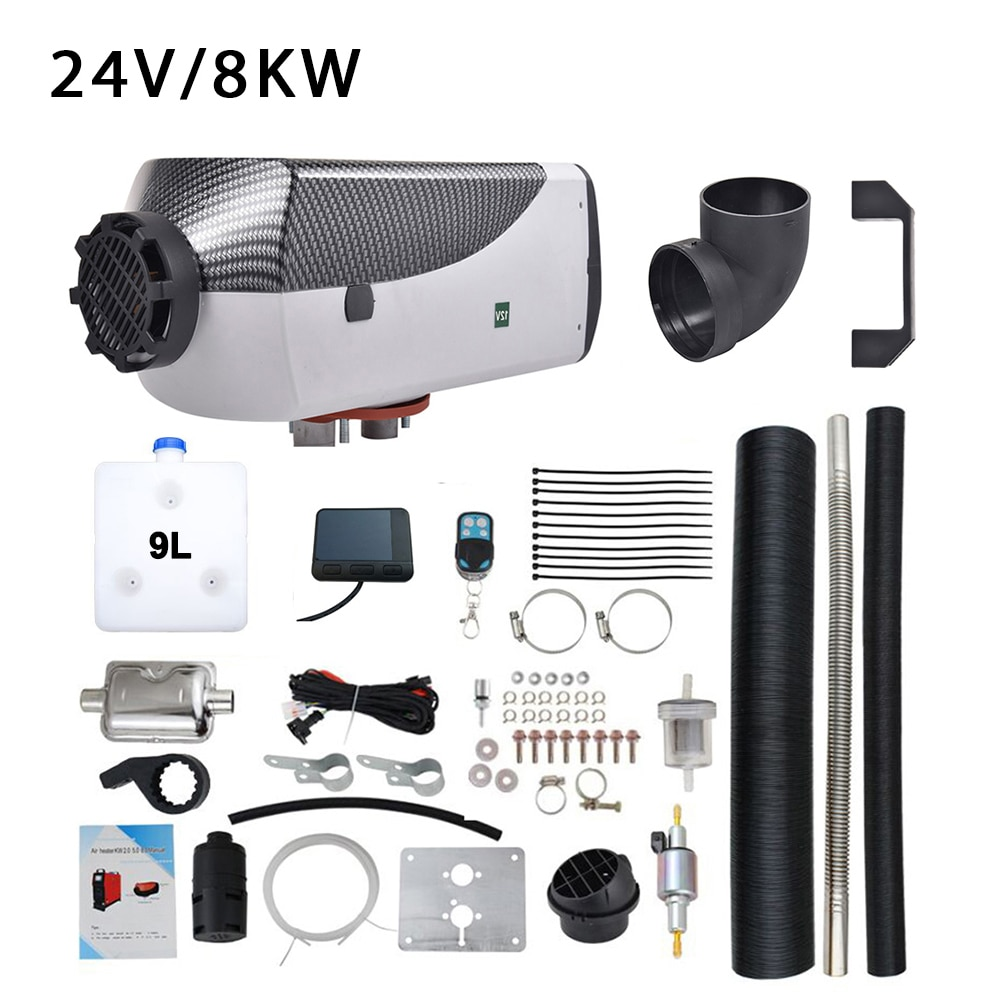 5KW 8KW 12 V/24 V calentador de estacionamiento para barcos calentador de coche de autobús con Control remoto y silenciador de forma gratuita para RV
