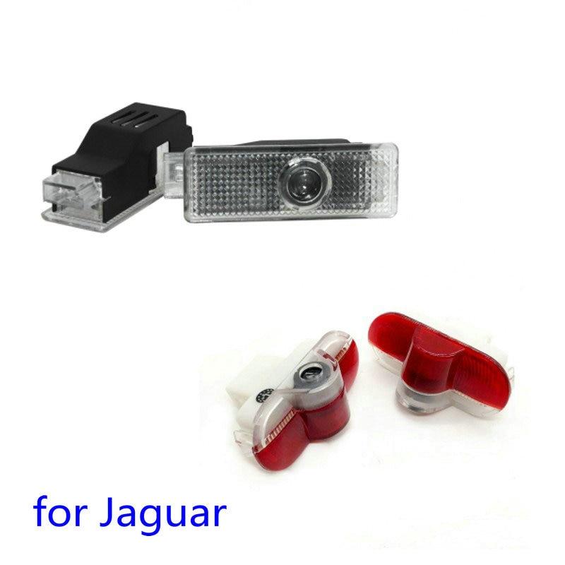 2 uds Led Luz de bienvenida para puerta del coche Proyector láser Logo fantasma sombra lámpara para Jaguar XE F-TYPE X152 XJ X350 X358 X351 XK X150 XKR
