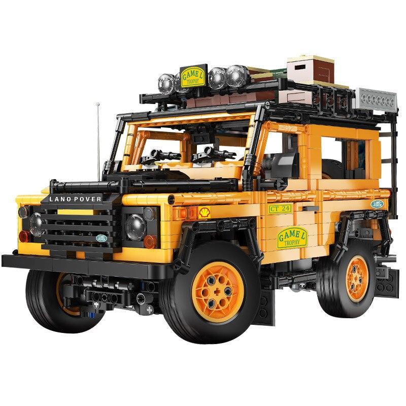 تعلم التعليم كتل جارديان جيب على الطرق الوعرة سيارة طبعة ثابتة التكنولوجيا الآلات سلسلة تجميعها بناء لعبة نموذج