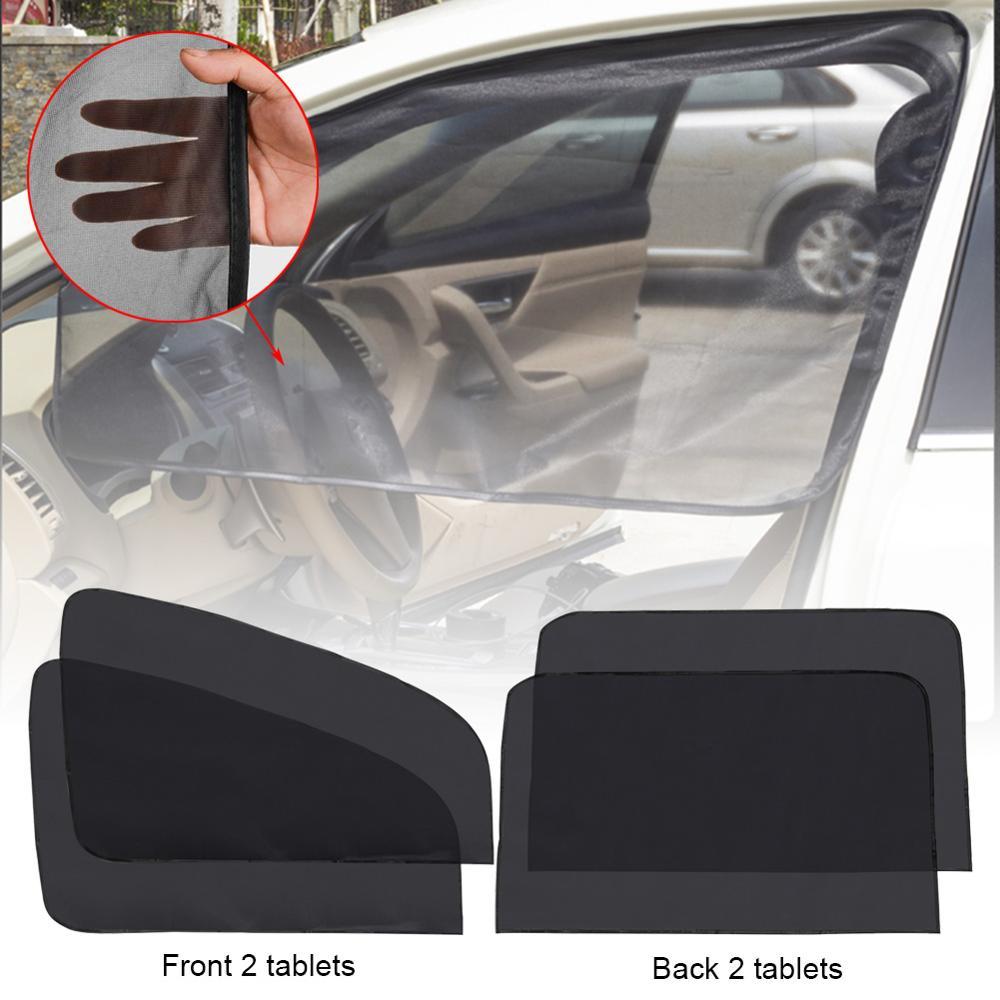 4 шт. автомобильные передние и задние боковые окна Черный солнцезащитный козырек складной сетчатый чехол солнцезащитный козырек