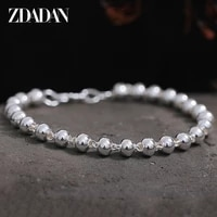 zdadan 925 silver smooth bead chain bracelet for women fashion jewelry party gifts