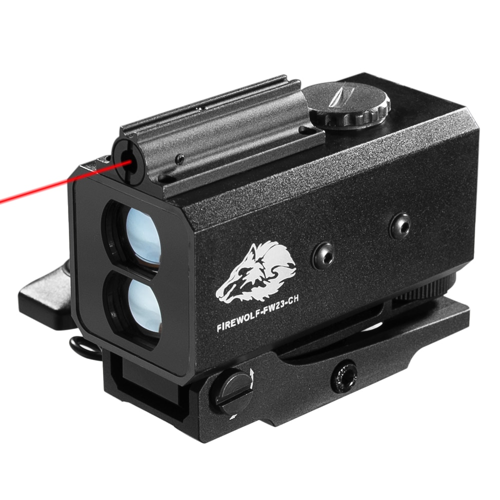آلة حفر بالليزر صغيرة الأشعة تحت الحمراء Riflescope Rangefinder للصيد اطلاق النار المسافة زاوية سرعة مقياس التكتيكية Riflescope شنت