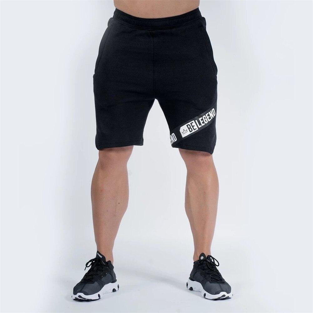 Шорты мужские спортивные повседневные, хлопковые короткие штаны для фитнеса и бодибилдинга, Джоггеры для воркаута, спортивные шорты, летни...