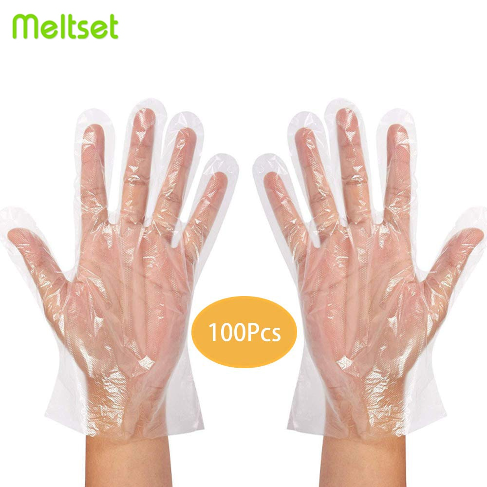 Transparent Plastic Disposable Gloves One-off BBQ Cooking Gloves For Household Bathroom Sanitary Gloves for Cooking Cleaning