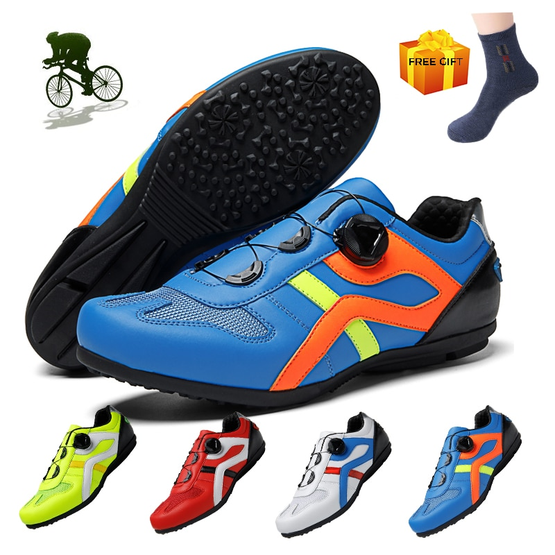 Zapatillas de Ciclismo sin bloqueo para Hombre, zapatos de bicicleta de carretera...