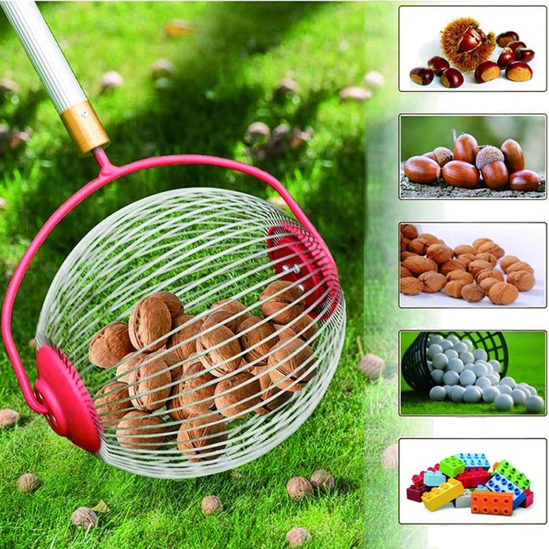 Комбайн для скатывания орехов, инструмент для быстрого сбора фруктов и орехов, грецких орехов и Каштанов без изгиба