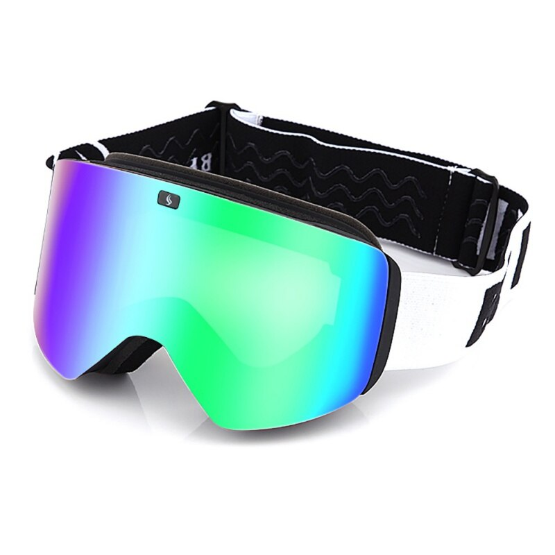 Лыжные очки для сноуборда, снежные очки, анти-туман, большая Лыжная маска, очки с УФ-защитой, для спорта на открытом воздухе, для катания на лы...