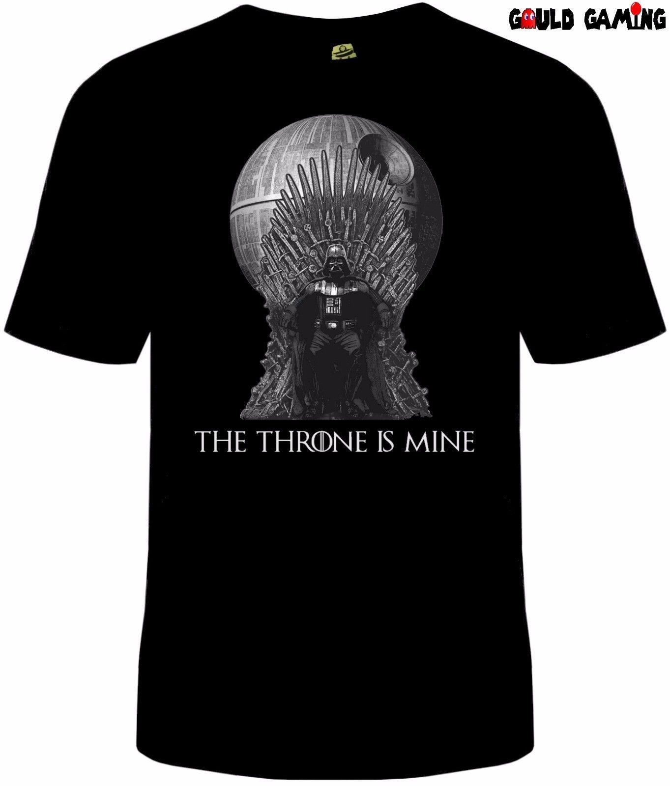 The Throne Is Mine Darth Vader-Camiseta para hombre, camiseta de moda Unisex con motivo de guerra de las galaxias y del orgullo informal, nueva y moderna camiseta para hombre