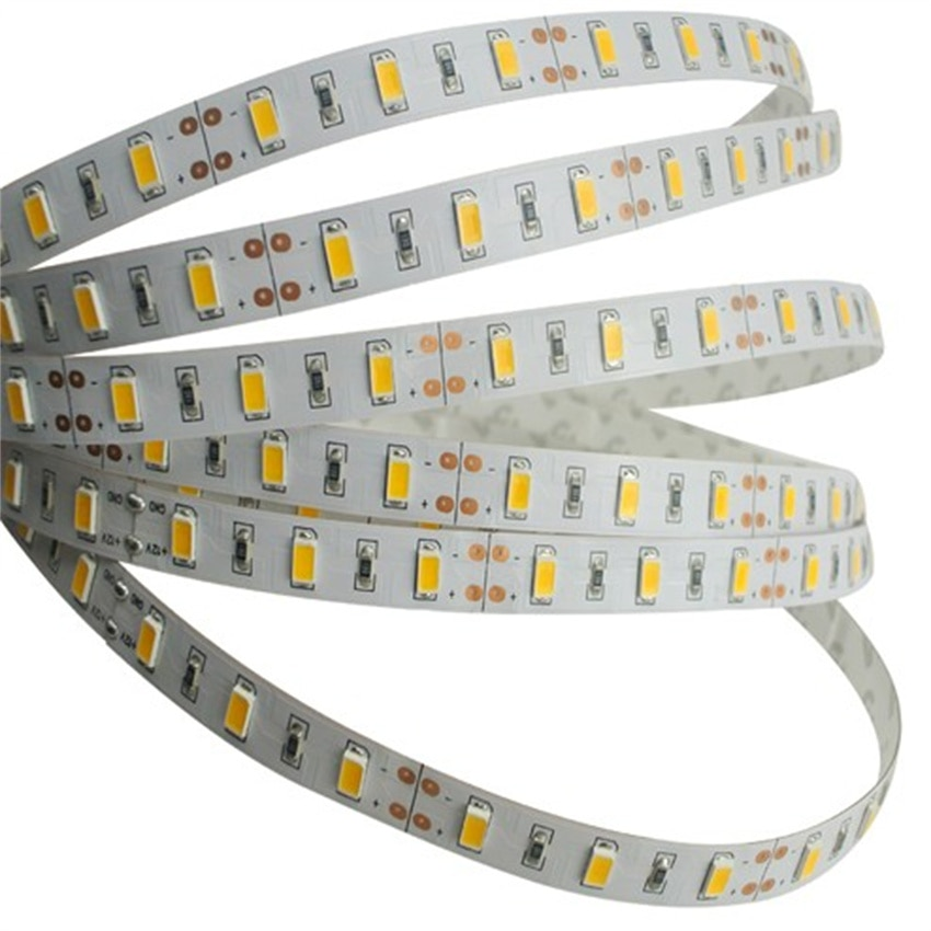 Free Shipping 60Led/M Double Row LED Strip Light 5630 Super High Brightness Chip Flexible LED Lamp Tape 5 Years Warranty