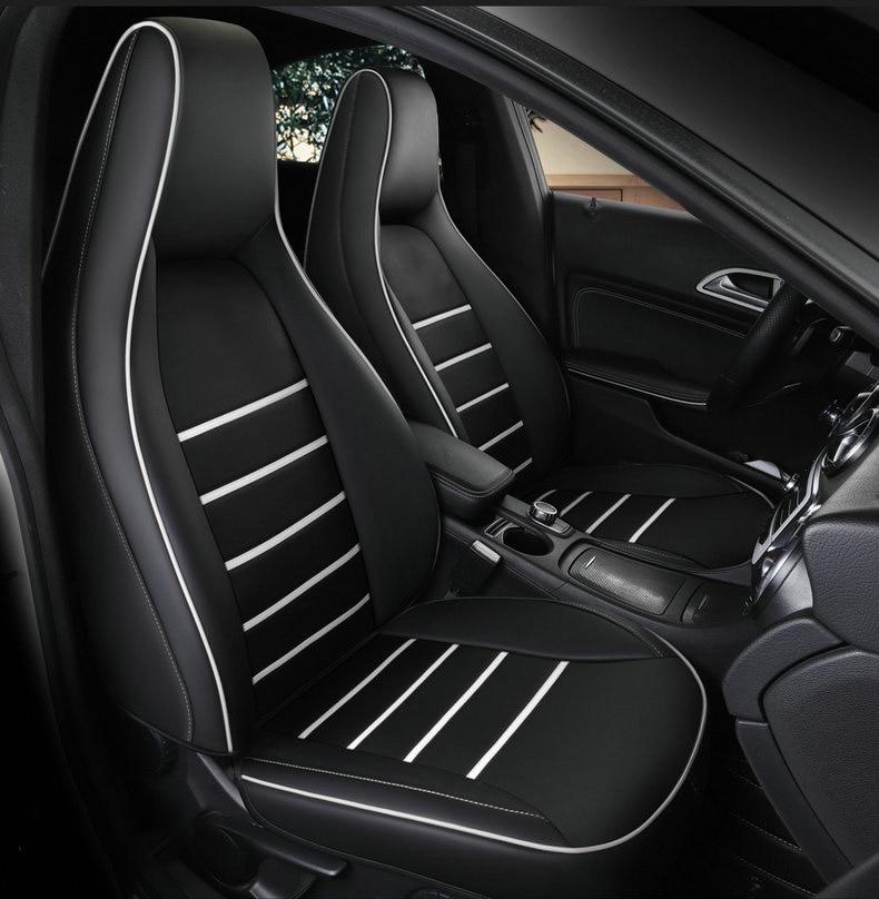 2 piezas de funda delantera de cuero para asiento de coche para mercedes-benz gla200 gla260 cla200 cla 220 cla260 A 180 A200 accesorios para coche
