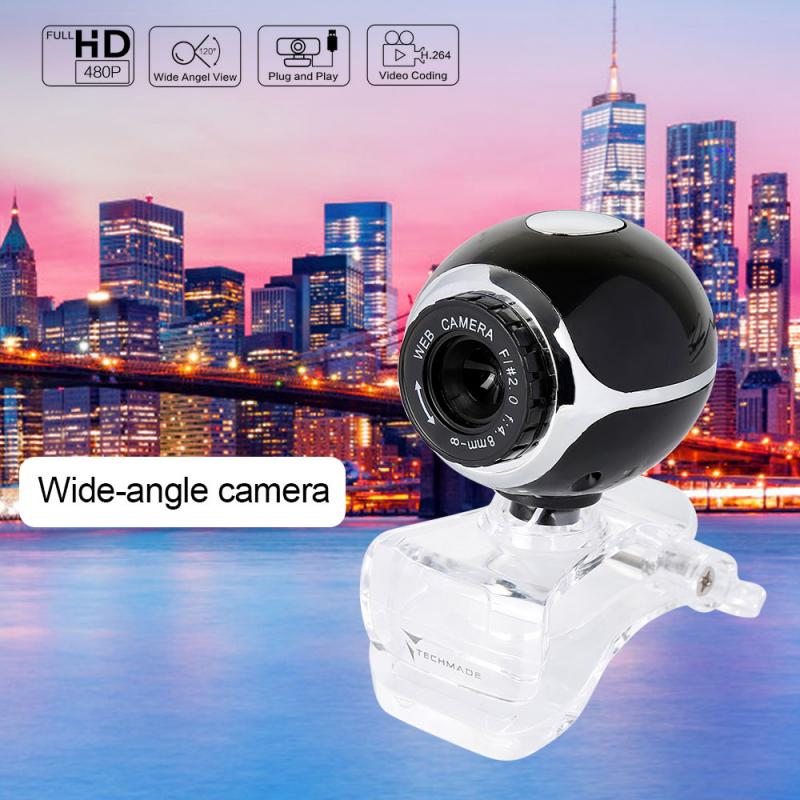 Cámara de la computadora USB Webcams Built-In micrófono absorbente de sonido webcam Para Camara Web Para Pc Para cámara de Youtube